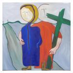5e statie Jezus ontmoet zijn Moeder