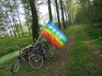 vlag met fietsen