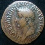 munt van keizer Tiberius